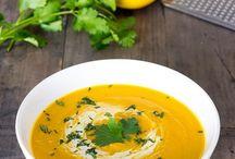platos de caliente sopas y cremas