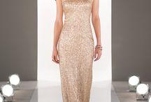 Modern Metallics / Sparkle bridesmaid dresses now available at The Ultimate Bride. Designer: Sorella Vita