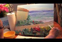Acrilics and oil paint videos