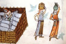 women carrying things on their heads