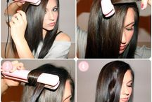 Curling hair with a GHD