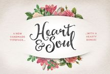 Brush Script Fonts / A growing list of popular brush script fonts & typefaces giving a hand-lettered, hand-drawn type feel to your designs.  These brush script fonts are perfect for stationary, wedding invites, quote graphics, branding and many more graphic design jobs.