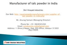 Manufacturer of talc powder in India / Shri Vinayak Industries is enlisted as leading manufacturer, supplier and exporter of a wide range of talc powder and it is the widely used chemical substance generally known as Talcum Powder.