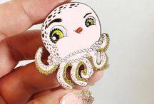 Enamel Pins / Soft enamel pins, original designs on Etsy Glitter pins