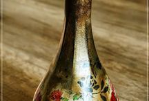 bottles decoupage and decorated