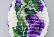 Яйцо оплетёное бисером - схемы