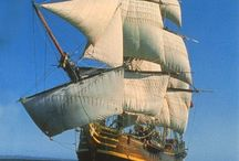 """Sailing ships / I love sailing ships.  Several of my books take place on them, including """"The Diamond King"""" and """"Beloved Warrior."""""""