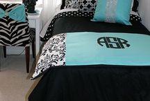 couleur chambre noir blanche bleue