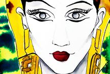 Fashion illustrations / Enjoy my last illustrations inspired by fashion weeks, street style, models and so on...