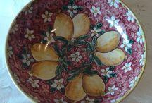 Ciotola / Spaghettiera  in ceramica dipinta a mano.Dec Limoni,
