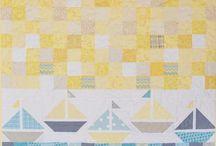 Sewing: Quilt Blocks: Sailboats
