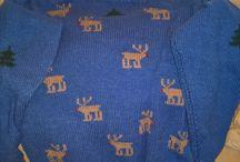 Herre hjemmestrik / Dejlig lun sjov vinter sweater