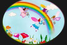 Fairies bedroom mural