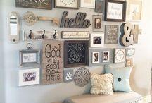 Family photo walls