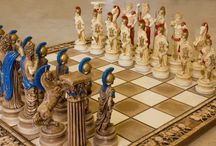 hand carved chessboards / Chessboard set