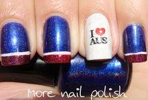 Aussie nail art