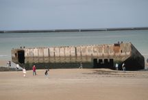 Débarquement Normandie / Images du site du débarquement actuelles et anciennes.