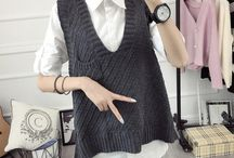 Sleeves tank top knitted