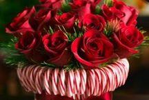 kerst bloemen arrangemet