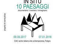 MANUFATTO IN SITU_10 paesaggi / 10 anni di arte ambientale in Umbria ed oltre riassunti in dieci sezioni espositive sugli interventi site specific nel paesaggio contemporaneo, a partire dalle esperienze anni Sessanta.