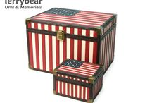 Patriotic Urns / Terrybear products are available at your local funeral home.