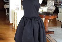 Lina Liri's Elegant High Fashion Black Color Dress Fourreau Style With Tulle. / Lina Liri's Elegant High Fashion Black Color Dress Fourreau Style With Tulle.