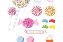 dulces de adorno