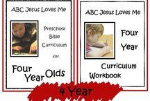 4 Year ABCJLM Curriculum / Ideas to enhance the 4 Year Curriculum at ABCJesusLovesMe.com