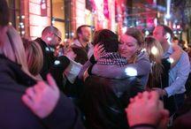 """La carte des """"Slow Party"""" / La Slow party de Strasbourg Mon Amour essaime désormais dans toute la ville le 14 février de 21h à 1h : commerces, restaurants, bars, galeries, Strasbourgeois sont invités à organiser leur propre soirée. Pour que la ville résonne au son du slow et que, partout, les couples s'enlacent…  Une soirée délicieusement régressive à ne manquer sous aucun prétexte."""