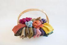 Sciarpe / Sciarpe in seta e lana tinte con le erbe della Sardegna. Coloratissime, morbide e avvolgenti.