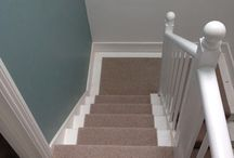 Grey Stairs As A Runner / Client: Private Residence In East London. Brief: To supply & install carpet to stairs.