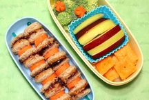Bentos : edible affection / Bento 弁当 is a single-portion takeout or home-packed meal common in Japanese cuisine. A traditional bento holds rice, fish or meat, with pickled or cooked vegetables, usually in a box-shaped container. Bento are readily available in many places throughout Japan, including convenience stores, bento shops, railway stations, and department stores. However, Japanese  homemakers often spend time and and energy on a carefully prepared lunch box for their spouse, child, or themselves . / by Dalva Freire