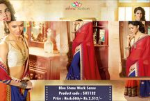 Get Ready To Dazzle With Designer Lace,Zari & Stone Work Party Wear Sarees