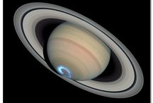 Space / Actual photographs of Saturn and its satellites
