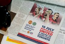 Manchester United v Celtic FC - Client Project / Creating the perfect ads for this monumental event