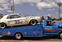 vintage race car transporters