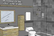 BATHROOM: 4x10 / MARMOTECH, THE BATHROOM CO. ASK FOR YOUR FREE DESIGN  marmotechpr@gmail.com