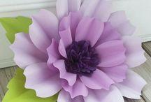 kağıt fon çiçel