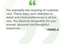 Testimonial Tuesday / Quotes from our customers!