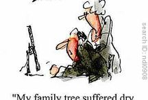 Genie humor / Funny sayings and cartoons about genealogy and family history
