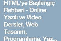 html öğrenme