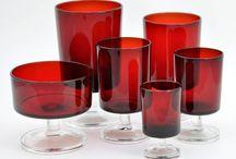 Rött glas / Red glass