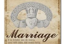 Married in October /  If in October you do marry. Love will come, but riches tarry.
