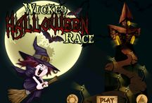 Wicked Halloween Witches Racing FREE Game for iPad