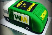 Rubbish truck cake