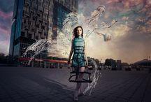 Nautical Shift / crinoline concept design / surreal photo manipulation / fashion photography