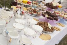 Vintage China tea party at festival wedding / We all love our vintage China tea parties! These can be themed! Please visit www.weddingfestivalcompany.co.uk for more images and information