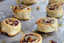 Cranberry and pine nut pinwheel