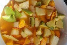 Mis cositas artesanas / Macedonia, una comida muy sana. Base zumo de naranja y frutas a tu gusto