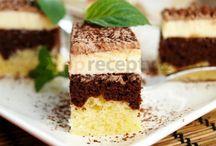 recepty - sladké  - řezy (krém, tvaroh, ovoce,  ..)